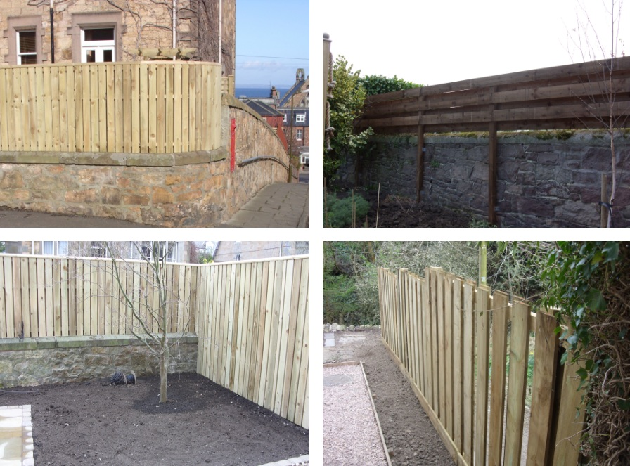 Woodwork photos m crew gardens landscaping service for Stand alone outdoor privacy screen